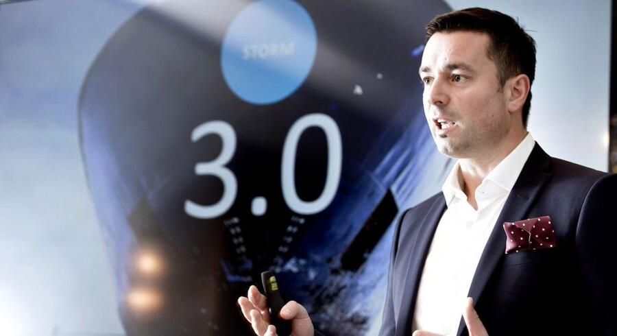 Telenor præsenterer tredje bølge af sit omstillingsprogram, der skal sikre, at Telenor har en fremtid i Danmark. Topchef Marek Slacik orienterer. (Foto: Keld Navntoft/Scanpix 2014)
