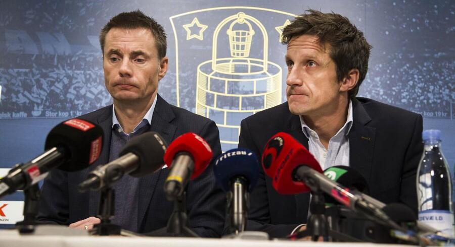 Pressemøde med Jan Bech Andersen(th.) og Troels Bech(tv.).