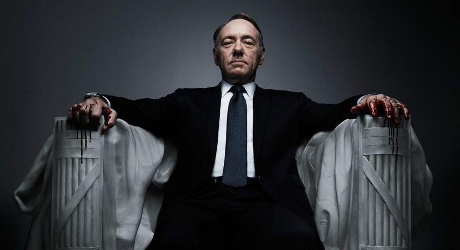 Femte sæson af »House of Cards« begynder til næste år med Frank Underwood (Kevin Spacey) som den bærende karakter. Foto: Netflix