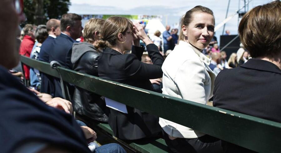 Partiformand for Socialdemokratiet Mette Frederiksen holder tale på Folkemødet 2016.