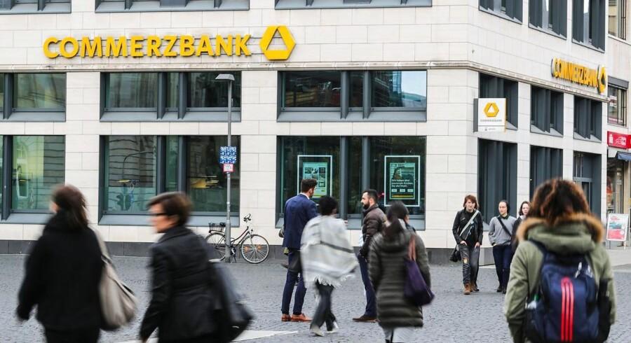Arkivfoto: Overskuddet i den tyske storbank Commerzbank landede lidt under det ventede i tredje kvartal.
