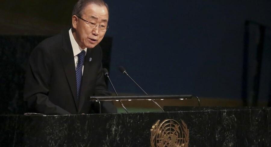 FN's generalsekretær Ban Ki-moon.