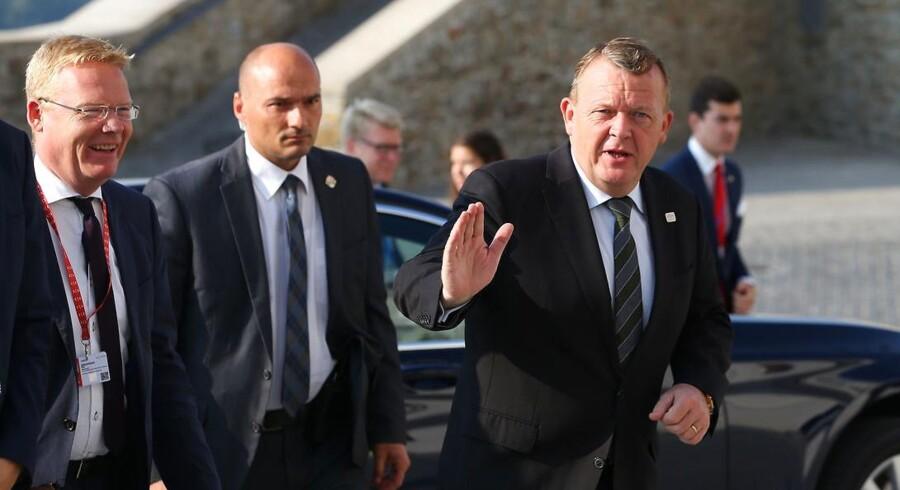 Statsminister Lars Løkke Rasmussen (V) er til EU-topmøde i Bratislava, Slovakiet.