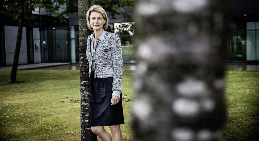 Eva Berneke, som kom fra TDCs direktion, overtog i april 2014 styringen af IT-selskabet KMD og har siden brugt kræfter på at rette økonomien op gennem opkøb. Arkivfoto: Thomas Lekfeldt, Scanpix