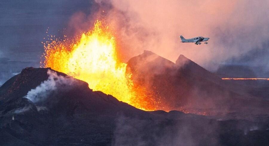 Den islandske vulkan Bardarbunga har efterhånden produceret langt over to kubikkilometer lava, hvilket formentlig er den tredjestørste lavaproduktion i verden i mere end 200 år.