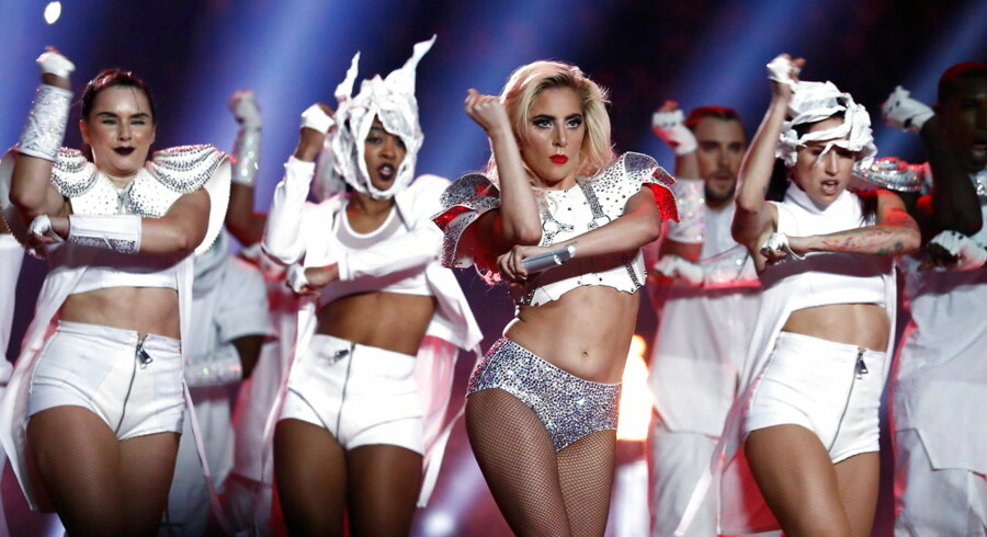 epaselect epa05774060 US singer Lady Gaga performs during the Halftime Show of Super Bowl LI at NRG Stadium in Houston, Texas, USA, 05 February 2017. The AFC Champion Patriots play the NFC Champion Atlanta Falcons in the National Football League's annual championship game. EPA/LARRY W. SMITH