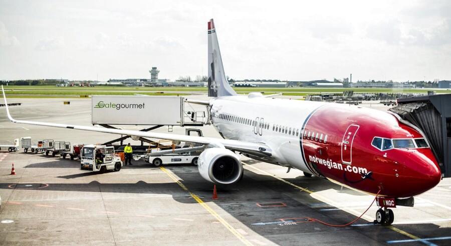 Norwegian er blevet bedre til at fylde flyene op, og passagererne flyver gennemsnitligt længere, viser det seneste regnskab. Arkivfoto.