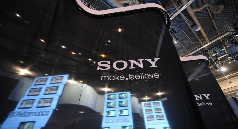 Elektronikgiganten Sony tror nu også selv på fremtiden efter oplivende salgstal for julen. Her er Sonys stand på elektronikmessen CES i Las Vegas i disse dage. Foto: Robyn Beck, AFP/Scanpix