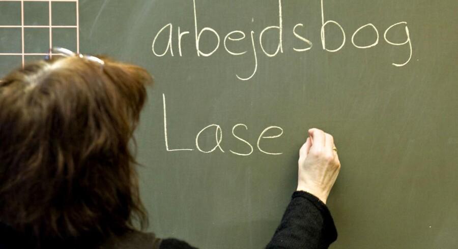 Arkivfoto: Lærernes arbejdstid, betalt frokostpause og løngab for offentligt ansatte gør kommende forhandlinger svære.