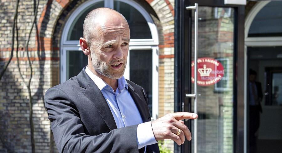 Forsvarer Anders Nemeth ses her i forbindelse med afsigelsen af dom i sagen mod en tidligere Singapore-direktør i OW Bunker ved Retten i Aalborg, onsdag d. 30. maj 2018.