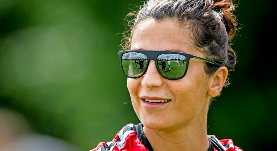BMINTERN - BREDA - Nadia Nadim of Denmark during a training session in preparation for the upcoming Semi Final against Austria in Breda. ANP JERRY LAMPEN