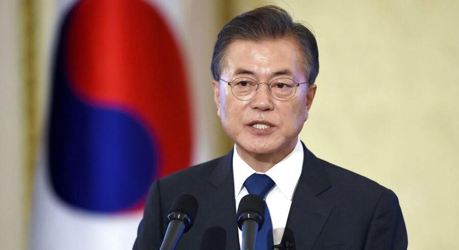 Arkivfoto. Sydkoreanerne har arbejdet for hårdt for at genopbygge landet efter Koreakrigen, mener Moon Jae-in.