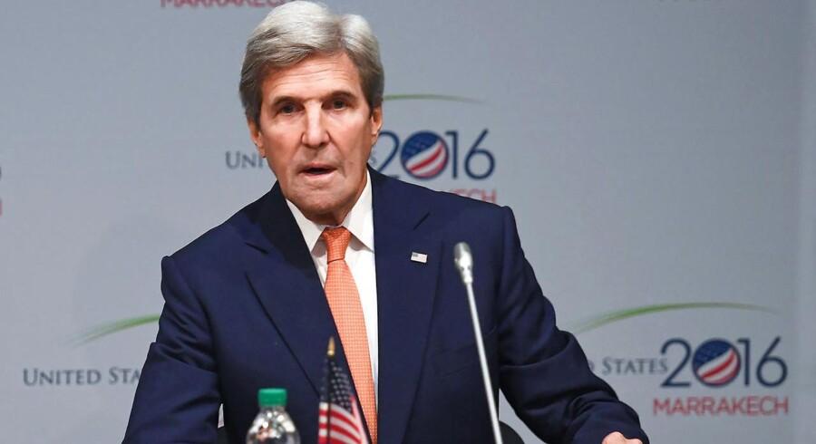 Den amerikanske udenrigsminister John Kerry. REUTERS/Mark Ralston/Pool