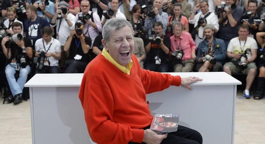 Jerry Lewis i 2013 ved præsentationen af hans sidste film »Max Rose« under filmnfestivalen i Cannes. Jerry Lewis døde søndag 91 år gammel.