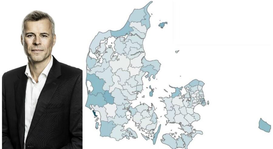 Se hvordan din kommune placerer sig på en række områder i Dansk Erhvervs interaktive Danmarkskort i artiklen.