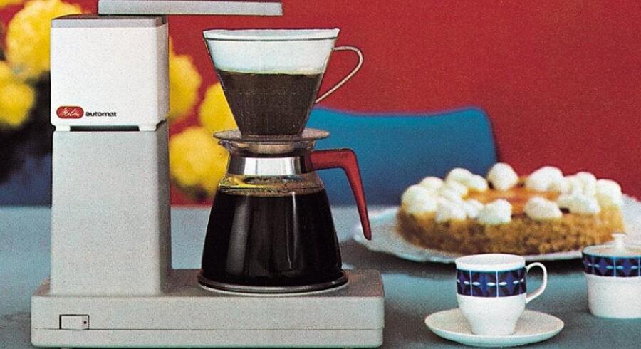 En af Melittas første kaffemaskine fra 60'erne.