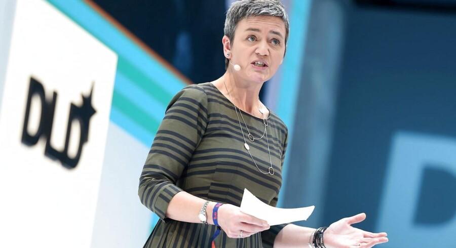 EUs konkurrencekommissær, Margrethe Vestager, slog søndag i München fast, at hun nu vil se på, om internetgiganternes masseindsamling af data skader konkurrencen. Foto: Tobias Hase, EPA/Scanpix