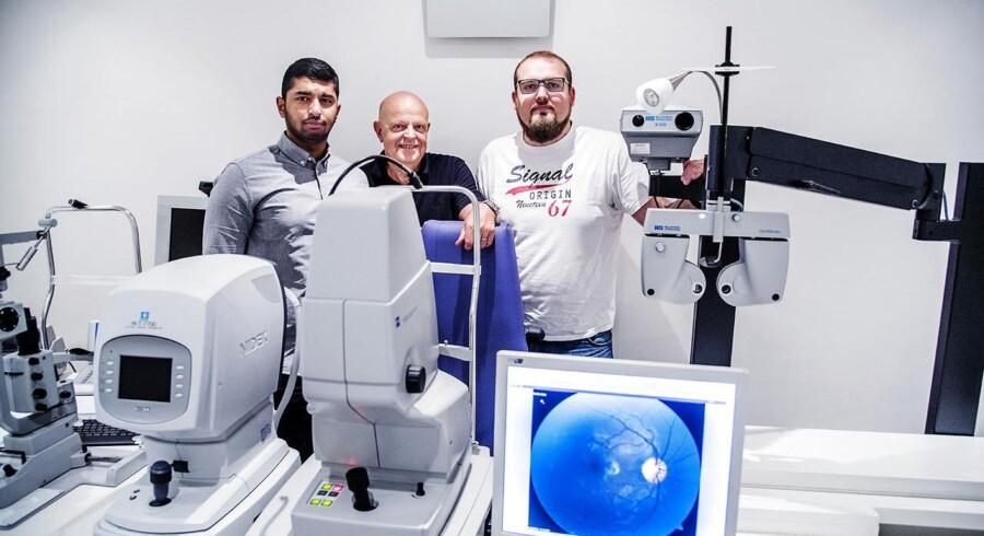 RetinaLyze. Robert Birch og de to systemudviklere.