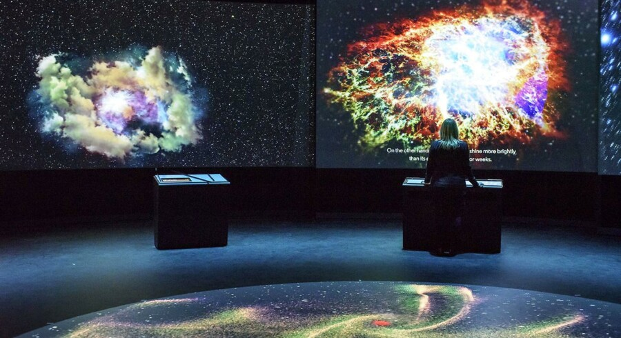 Stjernetåger, supernovaer og et interaktivt »Big Bang«-gulv. Planetariet anvender den nyeste teknologi i sin nye og permanente udstilling »Made in Space«.