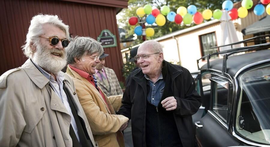 Arkivfoto fra 2016: Olsen Banden univers åbner på Nordisk Film. Dick Kaysø og Claus Ryskjær.. (Foto: Liselotte Sabroe/Scanpix 2016)