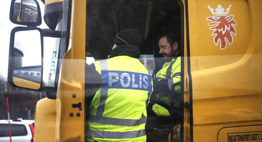 ARKIVFOTO: Grænsekontrol i Sverige.