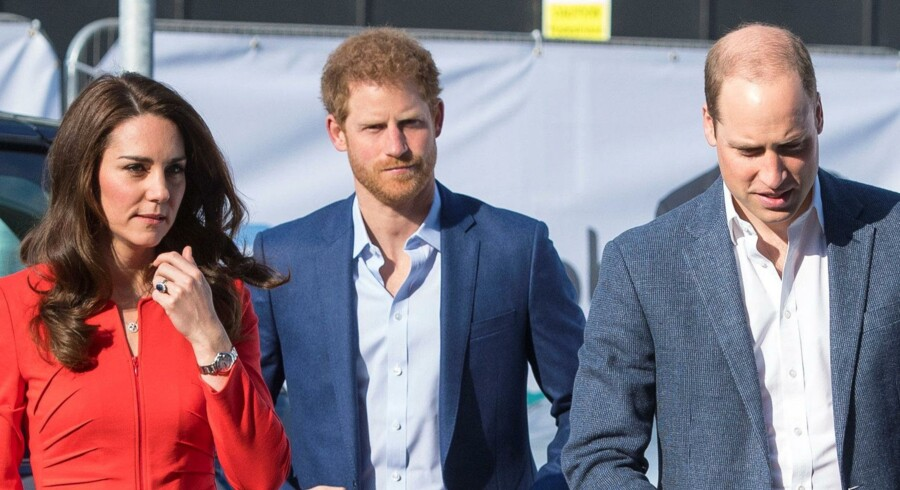 Hertuginde Kate, prins Harry og prins William er dybt berørte. Reuters/Pool