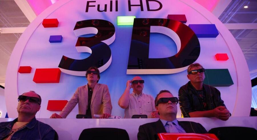 Allerede på IFA-messen sidste år var der 3D overalt. Det bliver ikke mindre i år. Arkivfoto: Christian Charisius, Reuters/Scanpix