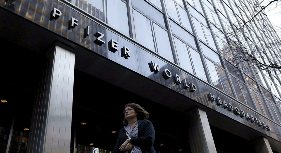 Pfizer World Headquarters bygningen på Manhattan, New York, November 23, 2015.