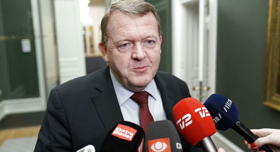 (ARKIV) Statsminister Lars Løkke Rasmussen efter forhandlingerne med Dansk Folkeparti i Statsministeriet fredag d. 8. december 2017.