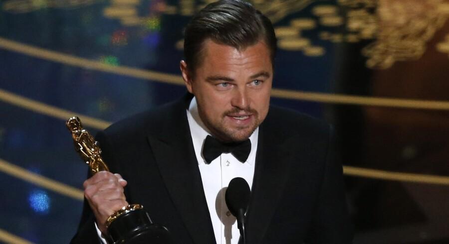 Leonardo DiCaprio vandt en Oscar for filmen The Revenant, som blev årets mest sete udenlandske film i Danmark sidste år. Reuters/Mario Anzuoni