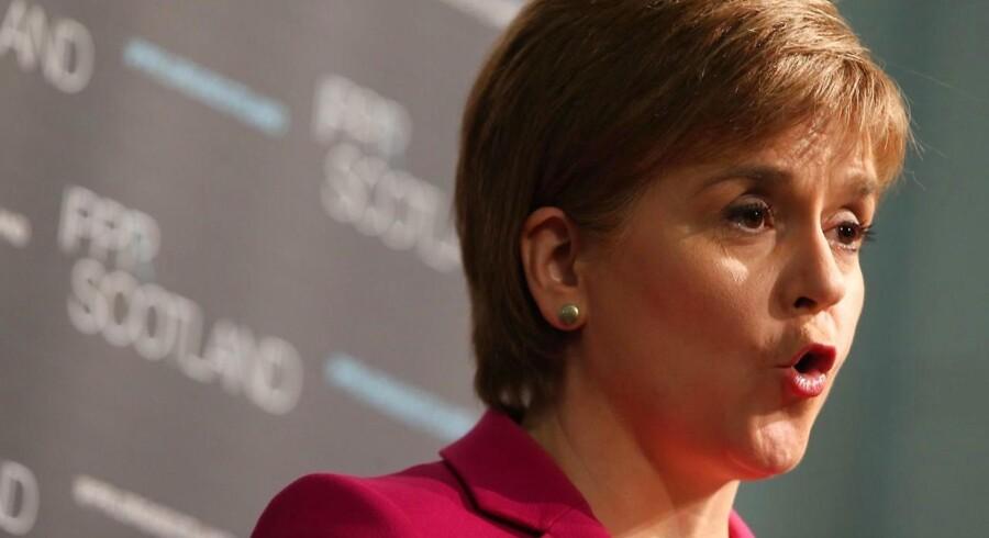 Den skotske leder, Nicola Sturgeon.
