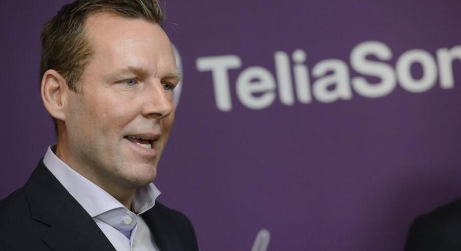 Telias topchef siden juni 2013, Johan Dennelind, slås fortsat med bestikkelsessager i Eurasien, som Telia nu vil trække sig helt ud af. Arkivfoto: Bertil Enevag Ericson, TT/Reuters/Scanpix