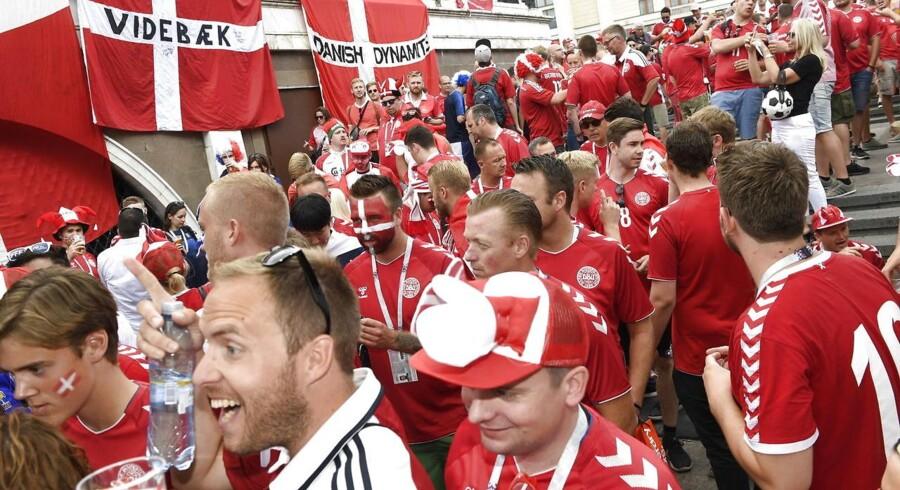 De danske fans er kommet til Moskva.