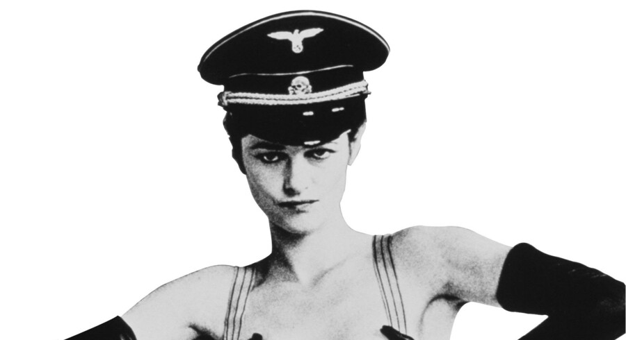 Charlotte Rampling på den ikoniske filmplakat fra »Nightporter«.
