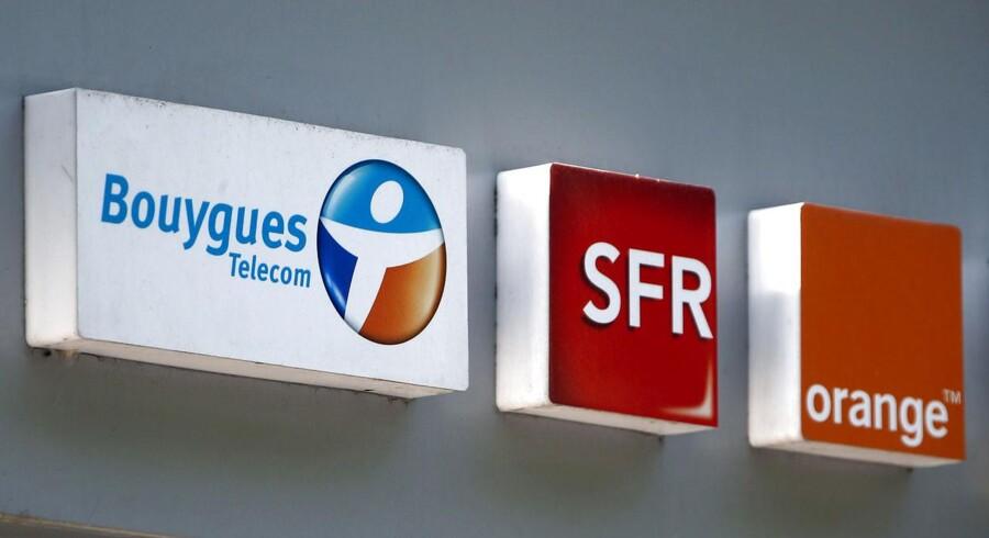Det mislykkedes for Bouygues Telecom at overtage konkurrenten SFR, og heller ikke forhandlinger med Orange har båret frugt. Nu planlægges en større fyringsrunde. Arkivfoto: Charles Platiau, Reuters/Scanpix