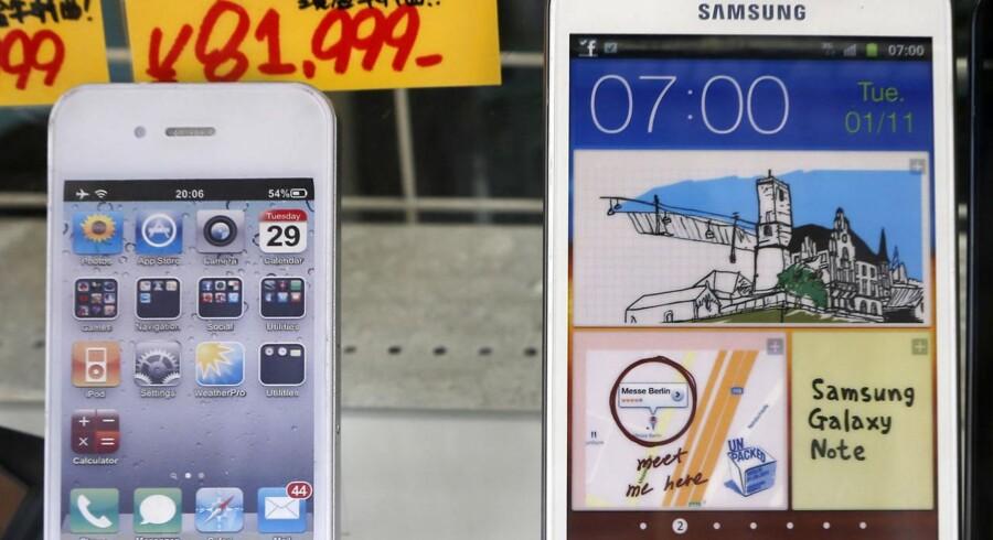 Samsung er nu blevet den store i kampen mod Apple målt på markedsandel.