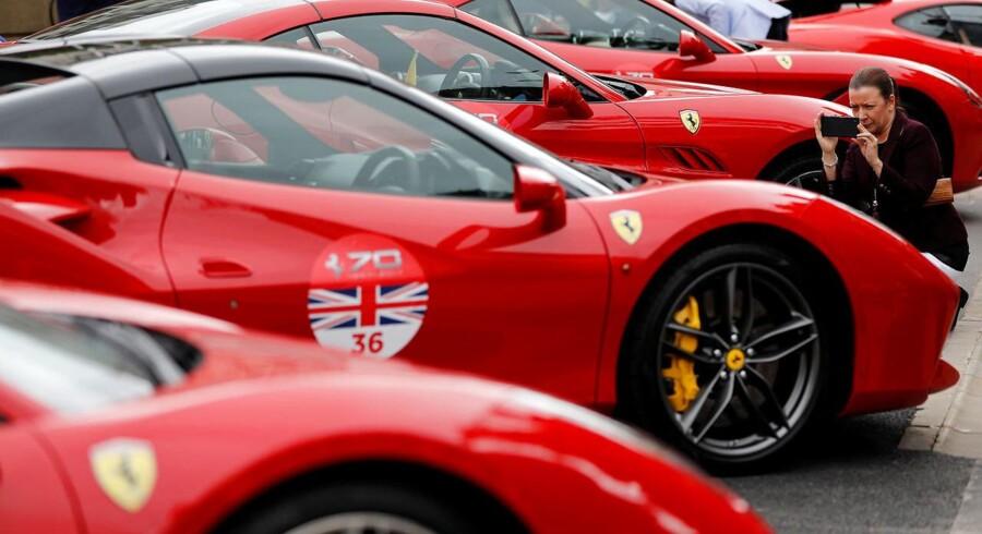 Arkivfoto af Ferrari-event i Burmingham, England.