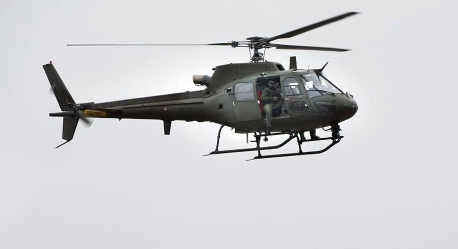 ARKIVFOTO. En helikopter er på vej til Søllerød Sø i Nordsjælland for at lede efter en person, der søndag kæntrede i sin kano.