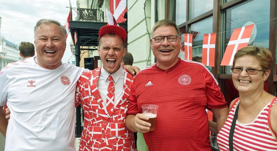Andreas, Bo, Steen og Anette fra Hundested og Hillerød er optimistiske før Danmarks kamp mod Kroatien ved VM.