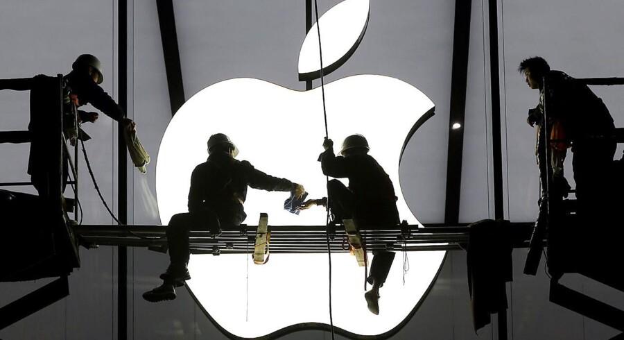 Apple har gennem nogen tid været verdens mest værdifulde selskab, og tirsdag aftens regnskab ventes kun at befæste denne position. Arkivfoto: Chance Chan, Reuters/Scanpix