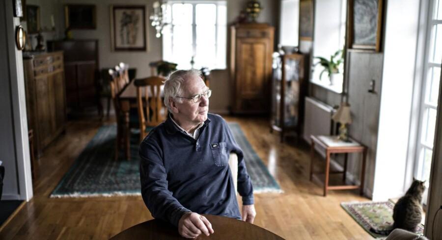 Historiker, dr. phil. og professor emeritus Bent Jensen fotograferet i anledning af hans nye værk om Den kolde krig. Søren Bidstrup