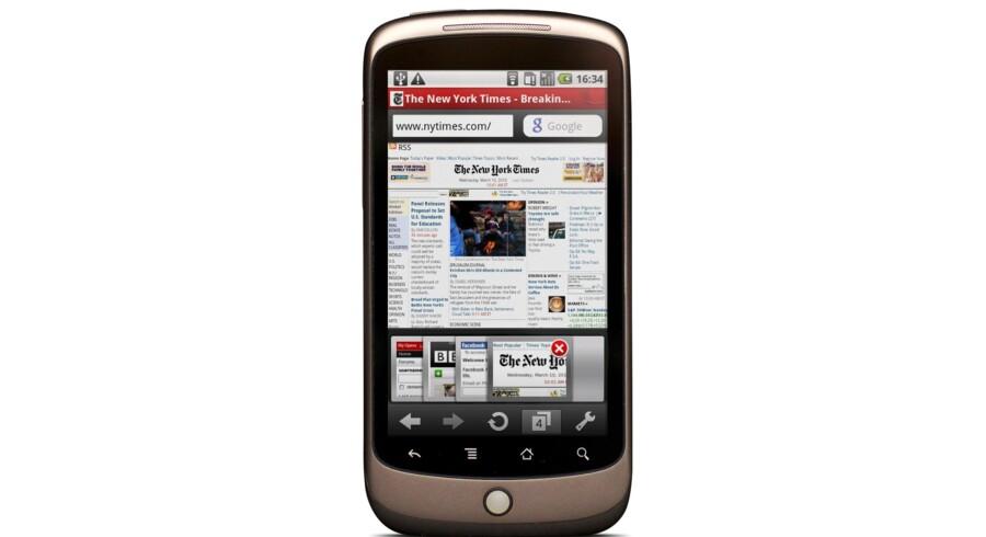 Opera Mini 5 bliver standard internet-program på Vodafone-telefoner.