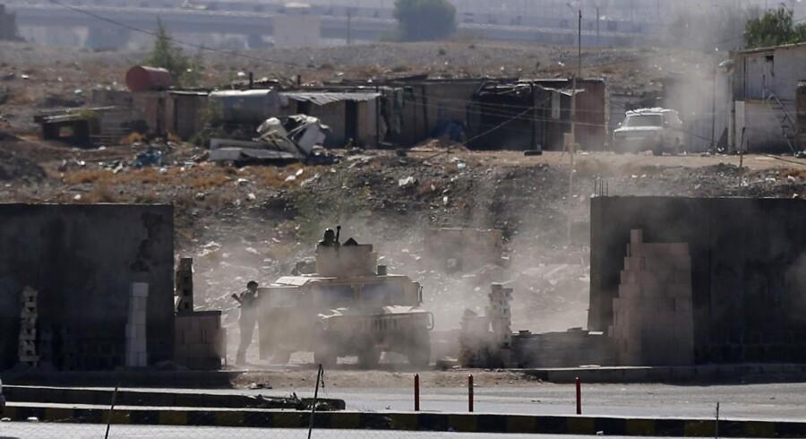 Kampe nær præsidentpaladset i Yemen.