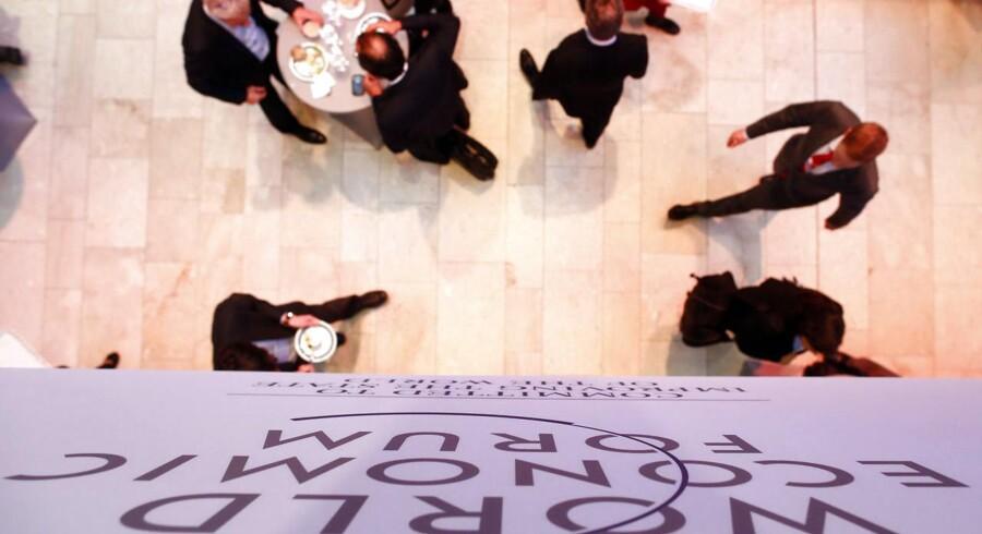 På det verdensøkonomiske topmøde, World Economic Forum, i Davos i Schweiz advares der mod truslen fra hackerne, som imidlertid er næsten umuligt at stå imod. Foto: Ruben Sprich, Reuters/Scanpix