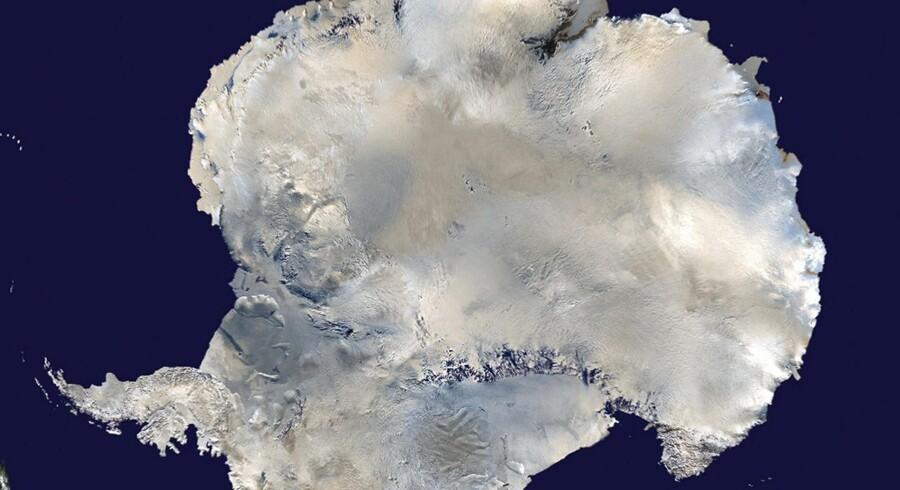 Satellitfoto af Antarktis