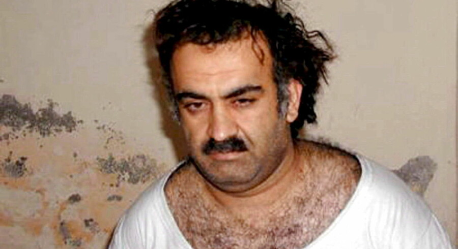 epa03171116 (FILE) A handout photo obtained 01 March 2003, showing Al-Qaeda operative Khalid Sheikh Mohammed shortly after his capture, in Rawalpindi, Pakistan. Reports published 04 April 2012 state that five suspected al-Qaeda militants accused of planning the 9/11 terror attacks will face trial in USA. The five militants, including Khalid Sheikh Mohammed, will be tried by a military commission. Pentagon confirmed they may face death sentence if found guilty. EPA/HANDOUT