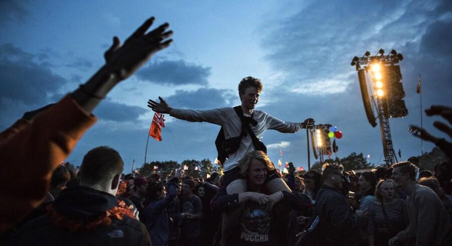 Publikum til The Weeknd på Roskilde Festival 2017.