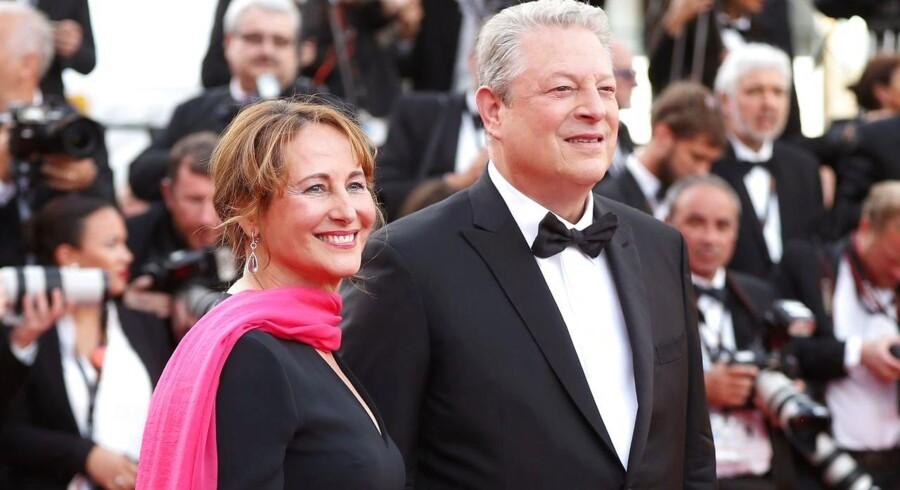 Al Gore i Cannes med den tidligere franske miljøminister Segolene Royal i anledning af den nye dokumentar »En ubekvem opfølger« (An Inconvenient Sequel: Power to Truth)