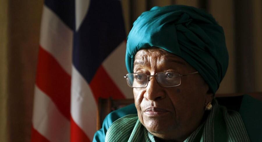 Liberias afgående præsident, Ellen Johnson Sirleaf, er blevet ekskluderet fra sit parti. REUTERS/Noor Khamis