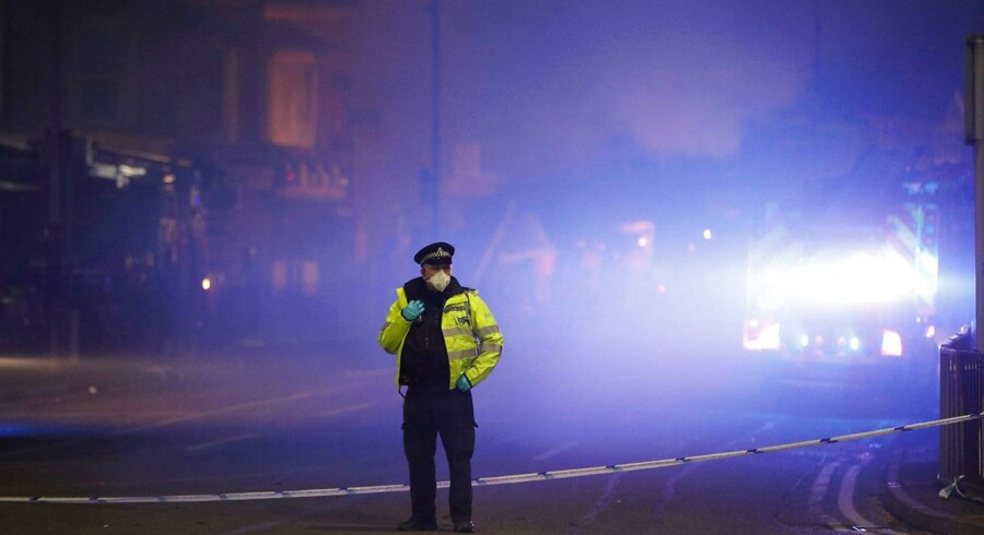 Billede fra gårsdagens eksplosion i Leicester.